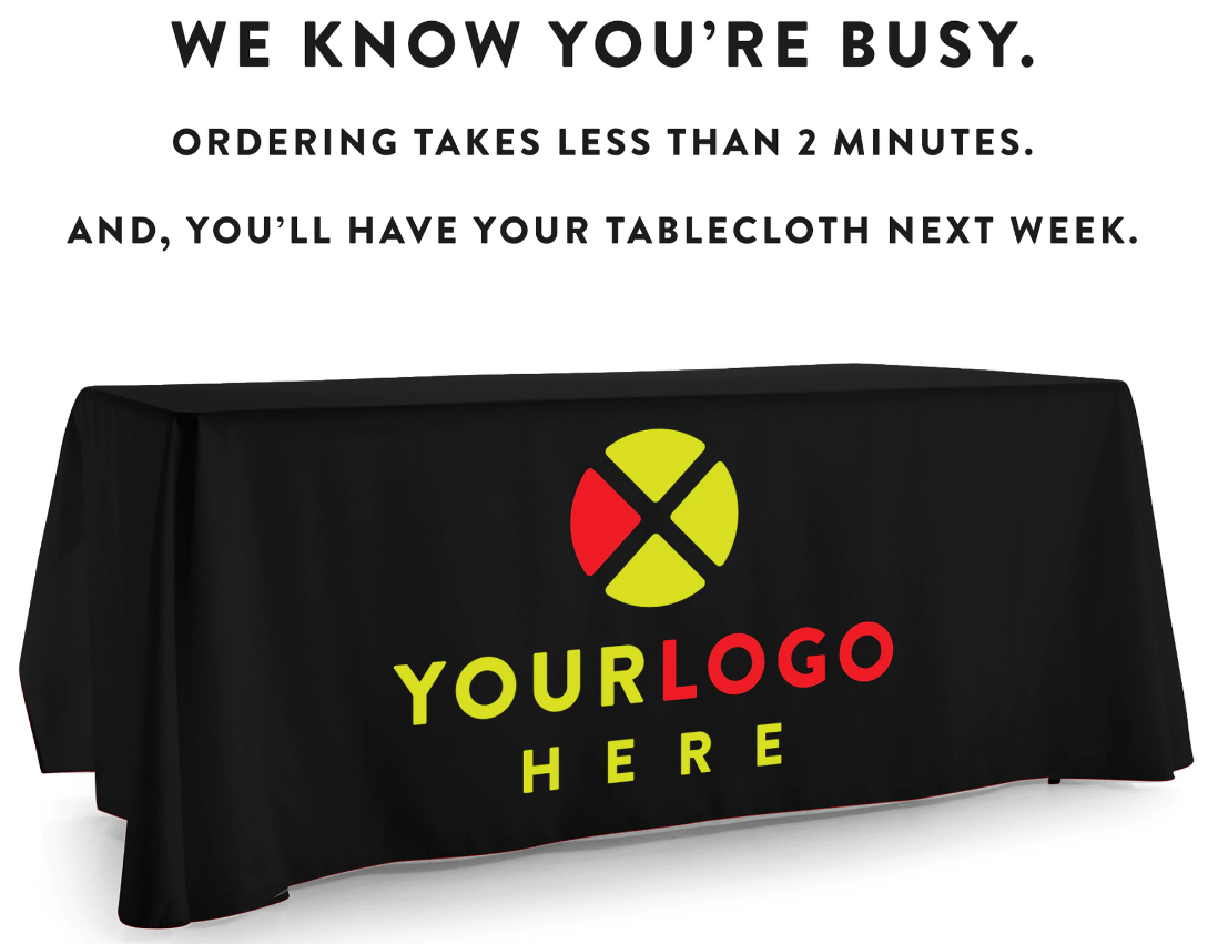 Custom Tablecloth for Tradeshow